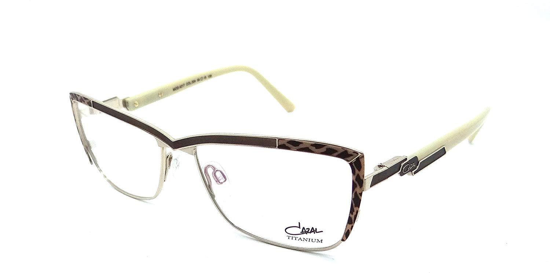 0109b6d3af2 Get Quotations · Cazal Rx Eyeglasses Frames 4217 004 54x15 Brown Leopard  Cream Titanium Germany