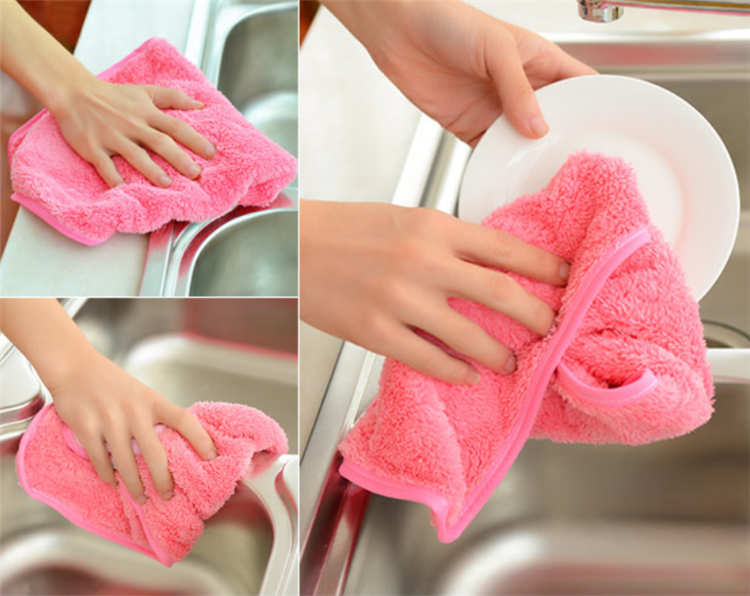 Microfiber Washcloths Hand / Facial Towel Makeup Remover Towel chenille cartoon hanging microfiber hand towel for kitchen