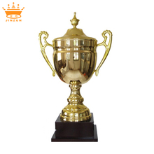Plated metal trophy cups golf, metal golf sculpture