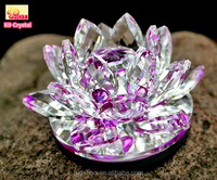 Pujiang Newest Lotus Shaped Wholesale Crystal Lotus Candle Holders