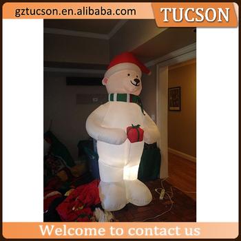 Outdoor Inflatables Christmas Yard Decoration Lighted Polar Bear For Sale