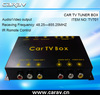 Universal car tv tuner box with 4 antenna jack