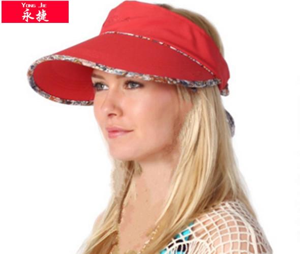 nueva moda de ala ancha de sol y playa visera gorra visera de venta al por 98780397a41