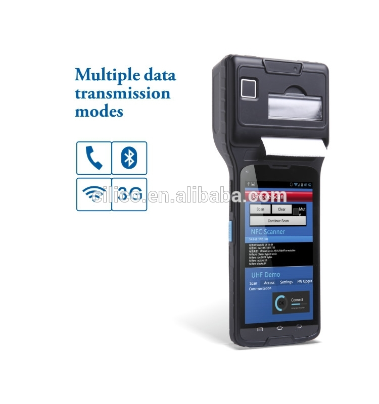 gprs handheld pos with printer ,wifi, gprs/3g, 1D/2D barcode scanner, fingerprint reader, bluetooth