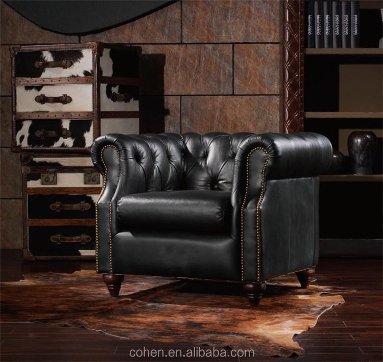 Cohen Furniture 100% Top Vintage Real Cow Leather Loveseat Sofa For  Livingroom Furniture Set