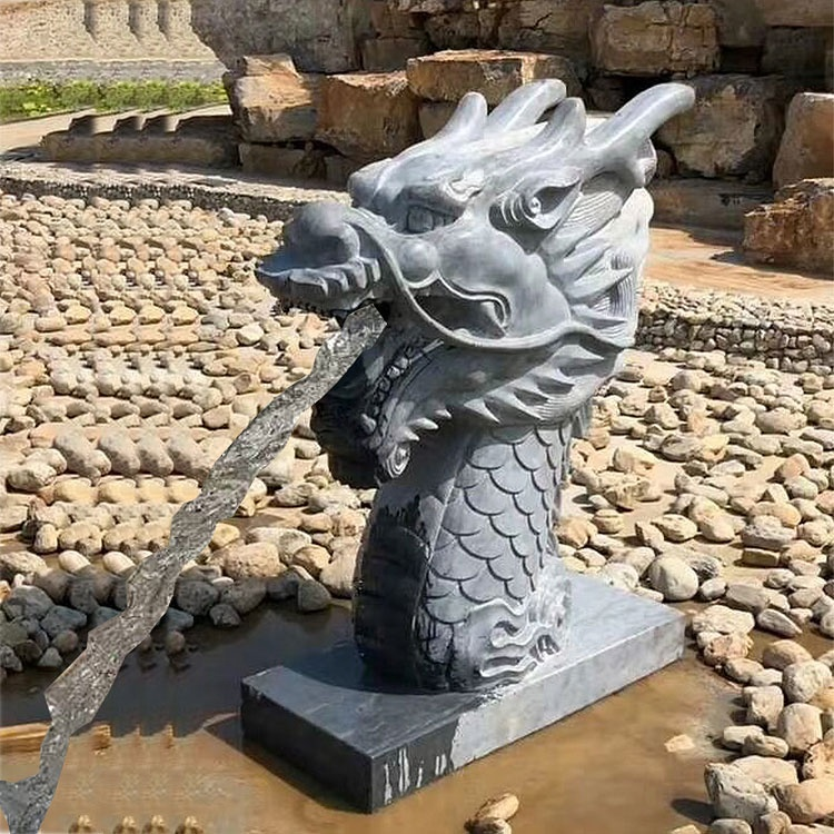 Quyang carving natuursteen chinese draak outdoor fontein