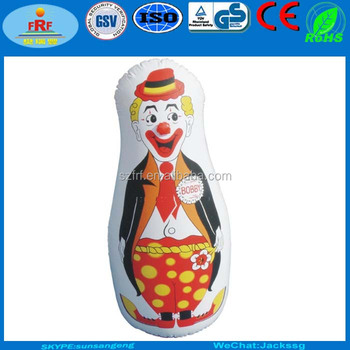 Pvc Inflatable Clown Bop Bag Punching