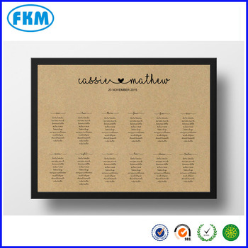 Custom Design A2 A3 A 4 A5 A6 Printable Seating Chart Poster ...