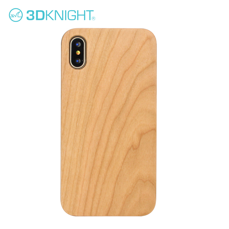 Custom Design Bamboo Cherry Wood Cell Phone Case For Iphone X