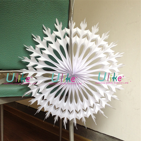 New style white 3d snowflake christmas tree decorations for 3d christmas decoration