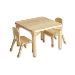 Preschool used child eco-healthy wooden motessori materials furniture table and chair