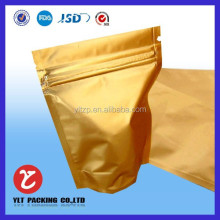 kraft paper stand up pouches with resealable zipper and transparent window