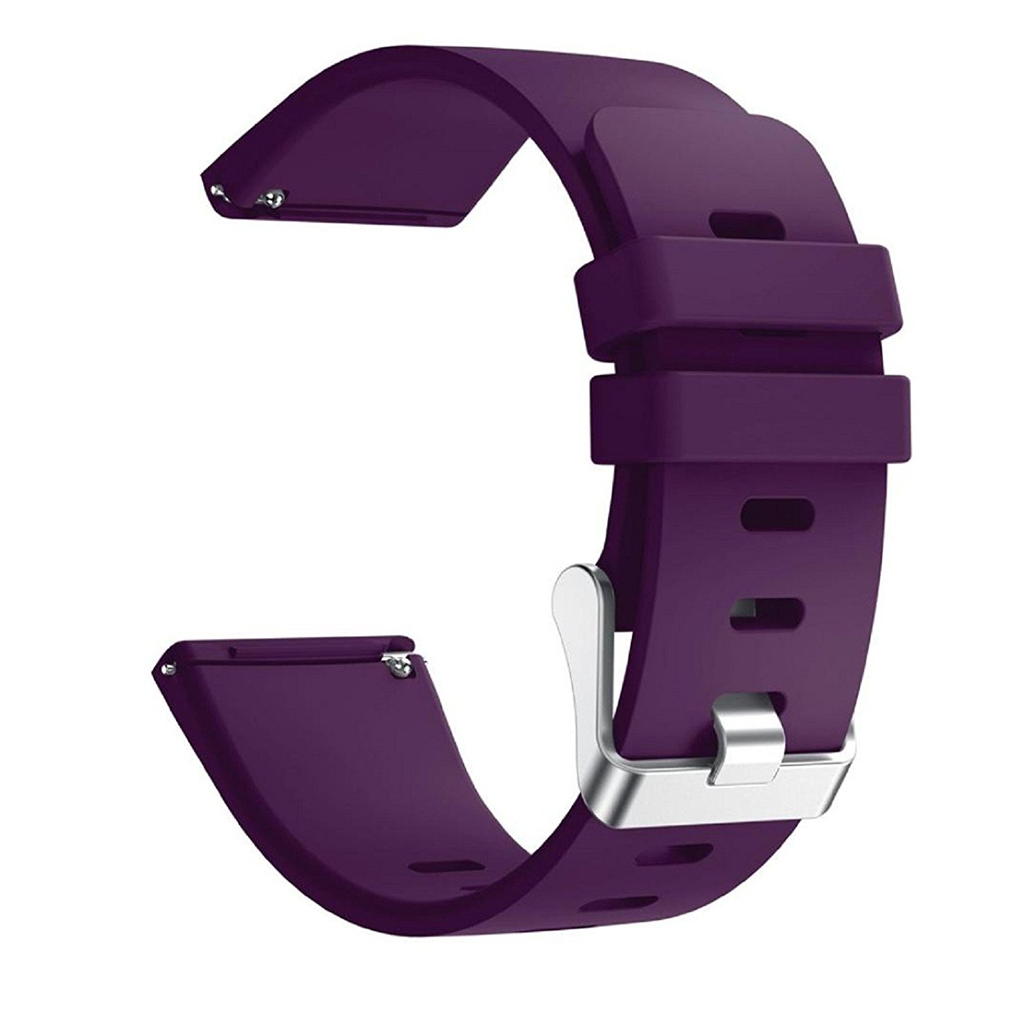 Owill Soft Silicone Replacement Sports Exercising Classic Band Strap For Fitbit Versa Smartwatch (Purple)