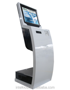 Indoor Touch Screen Bill Payment Kiosk Terminal With Card Reader For Self Payment