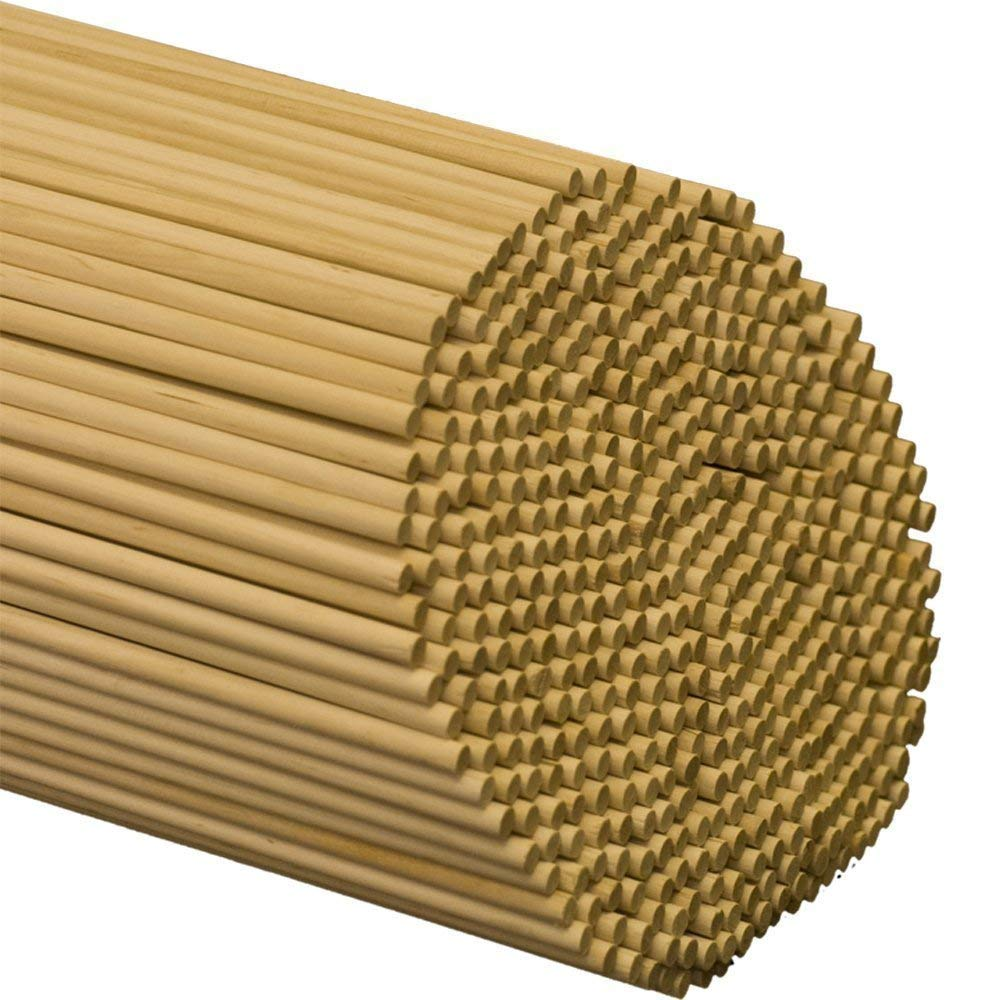 """1/4"""" inch x 48"""" inch Wooden Dowel Rods 