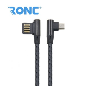 Elbow Type 2A Fast Charging Micro USB Cable for Mobile Games