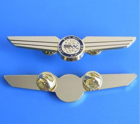 Pilot Metal Wing Badge Anchor Logo Lapel Pin Badge Buy