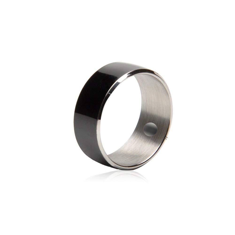 Alotm R3F Smart Ring for NFC Electronics Mobile Phone Android Smartphone Waterproof Dust-proof Fall-proof Wearable Magic App Enabled Rings Intelligent Device (Black, Size 7)