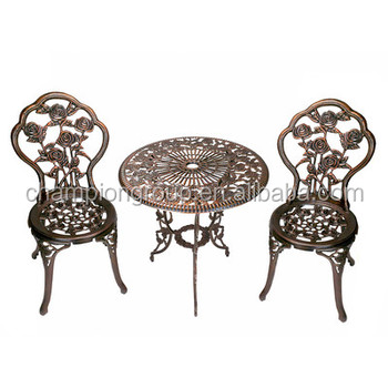 Rose 3 Piece Bistro Set Cast Iron Patio Furniture Buy Used Cast Iron Patio Furniture Cast Aluminum Patio Furniture Antique Wrought Iron Patio
