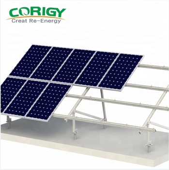 China Factory Aluminum Solar Panel Ground Mounted Glass Mounting Brackets PV Bracket For Farm