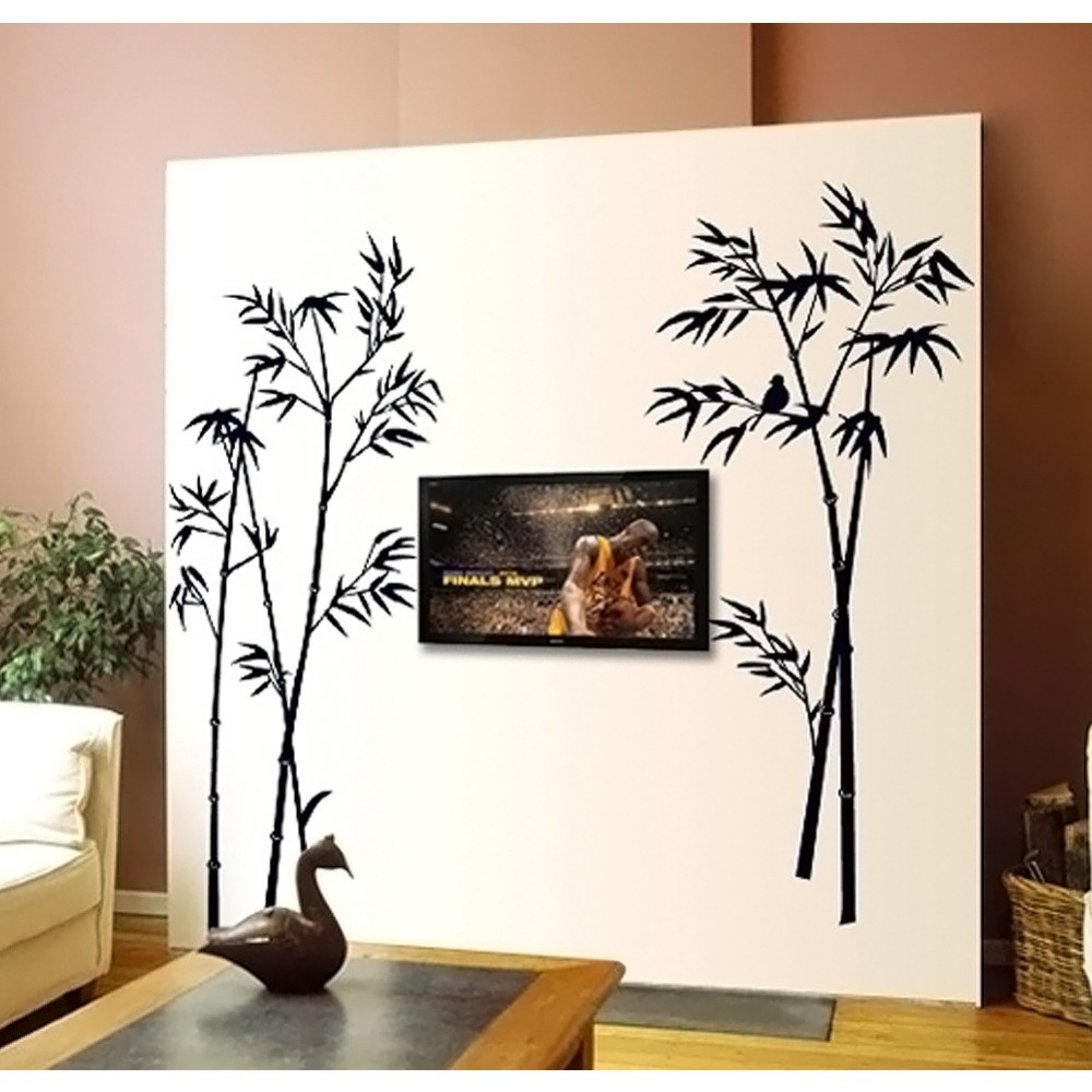 Bamboo Room Decor: Bamboo Wall Stickers Decoration Living Room Stikers Wall
