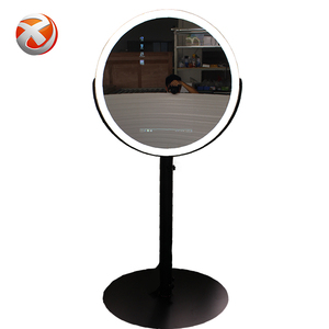 Round 23.6 Inch Lcd Screen Digital Signage Photo Booth, New Product Ideas Advertising Photo Booth, Diy Photo Booth