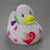 heart pattern love rubber duck with custom logo imprint , valentine rubber duck bath ,plastic valentine's day rubber duck gift