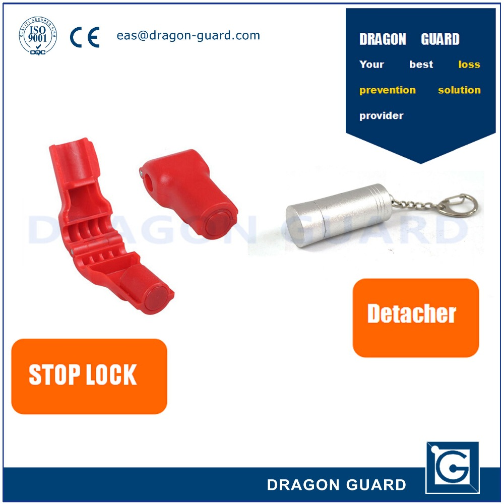 Red Plastic Retail Shop Security Display Hook Anti Theft Stop Lock