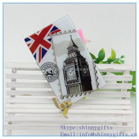 Single side shatter- proof with famous buildings picture pocket mirror