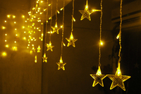 Drooping Wedding Party Led Xmas Lights Icicle Curtain Lights For ...