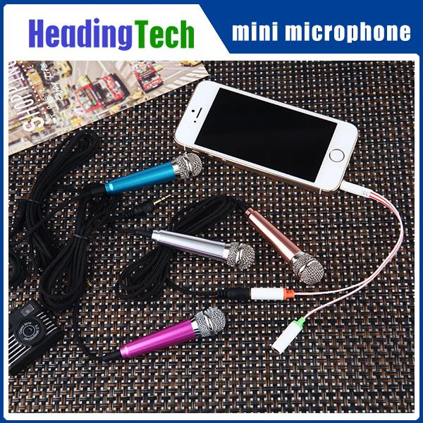 Factory mass stock Karaoke singing cell phone mini microphone for cell phone KTV