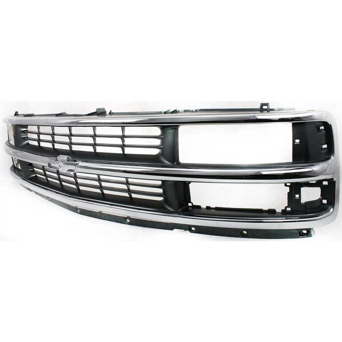 Diften 102-A8142-X01 - New Grille Assembly Grill Chrome shell silver gray insert GM1200382 15037242