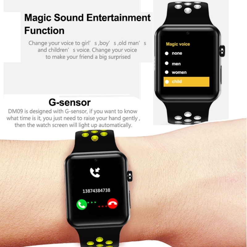 2019 New Sport Smart Watch Phone Factory Price Dual Core 1.3GHz Square Android smart watch strap