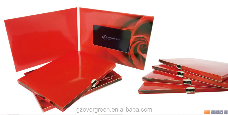 Alibaba Golden China Supplier Image Video Wedding Invitation Card