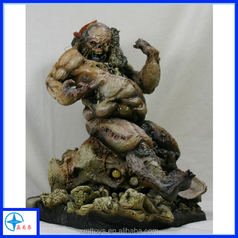 scary dead man statue resin zombie figurine