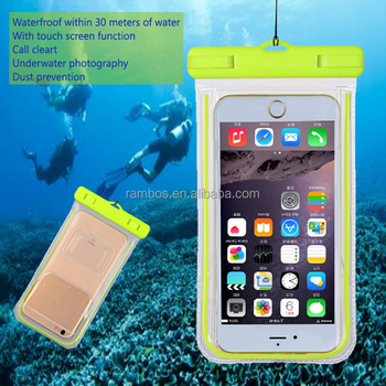 low priced bf8f1 d8bfc Universal Fluorescent Waterproof Case Cell Phone Dry Bag Pouch For Iphone 8  7 7 Plus 6s For Samsung Galaxy J7 S8 - Buy Waterproof Case,Waterproof Cell  ...