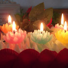 Multi-Colored Handmade Lotus Gift Candle For Home Decoration