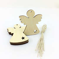 Little Angel Lovely For Christmas Wood Hang Deco,laser cut wood christmas ornaments
