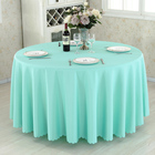 Home Table Cloth Wedding Tablecloth Round Tablecloth Camping Solid Color Table Cloth White Table Linen Hotel Party Wedding Tablecloth Dining and Coffee Table Cover