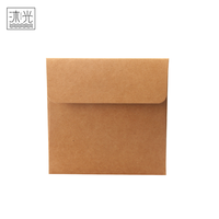 Manufacturer China Square Recycled Kraft Paper DVD Cover CD Packaging Case Bag