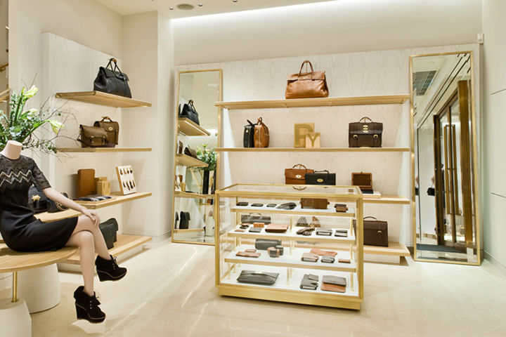 Names Brand Handbag Shop Interior Design Bag Display Cabinet Showcase