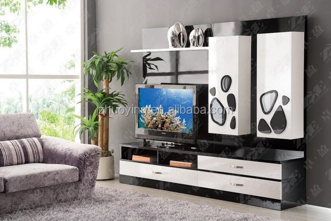 Product Pictures: Modern Design Living Room Tv Set Furniture, Tv Wall Units  Wooden Tv Cabinet Designs