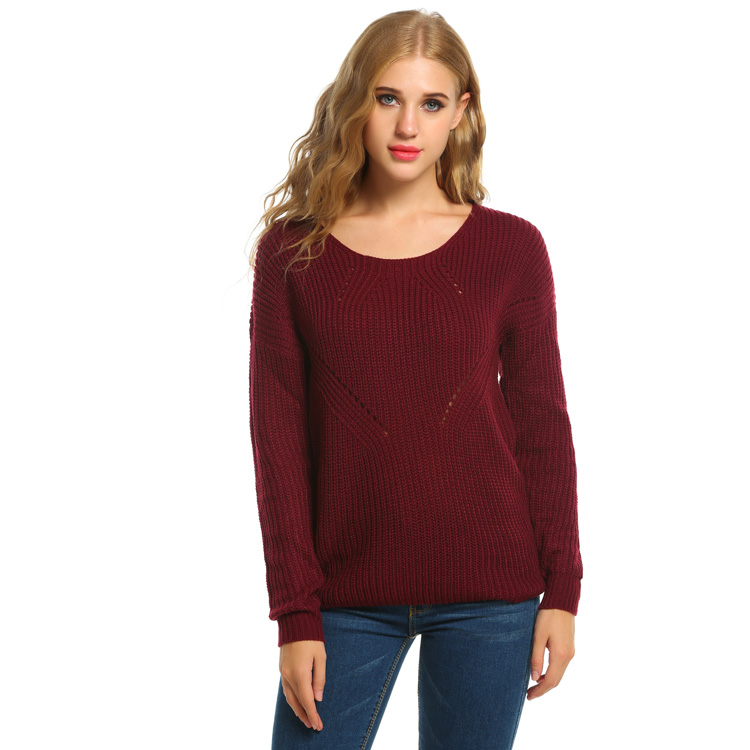 Latest Sweater Designs For Women Long Sleeves Knitted Sweater Women Clothing Suits 2016 Wholesale