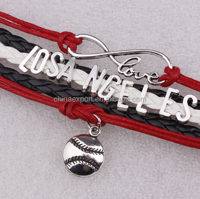 Jewelry Manufacturer China Design Letters Custom Woven Bracelets With Ball Charm