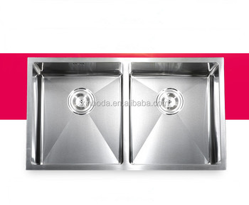 Double Equal Bowl Kitchen Sink 304 Stainless Steel