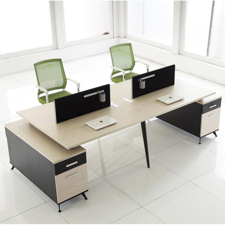 1 en forma de estaci n modular 6 plazas escritorio de for Escritorios modulares para oficina