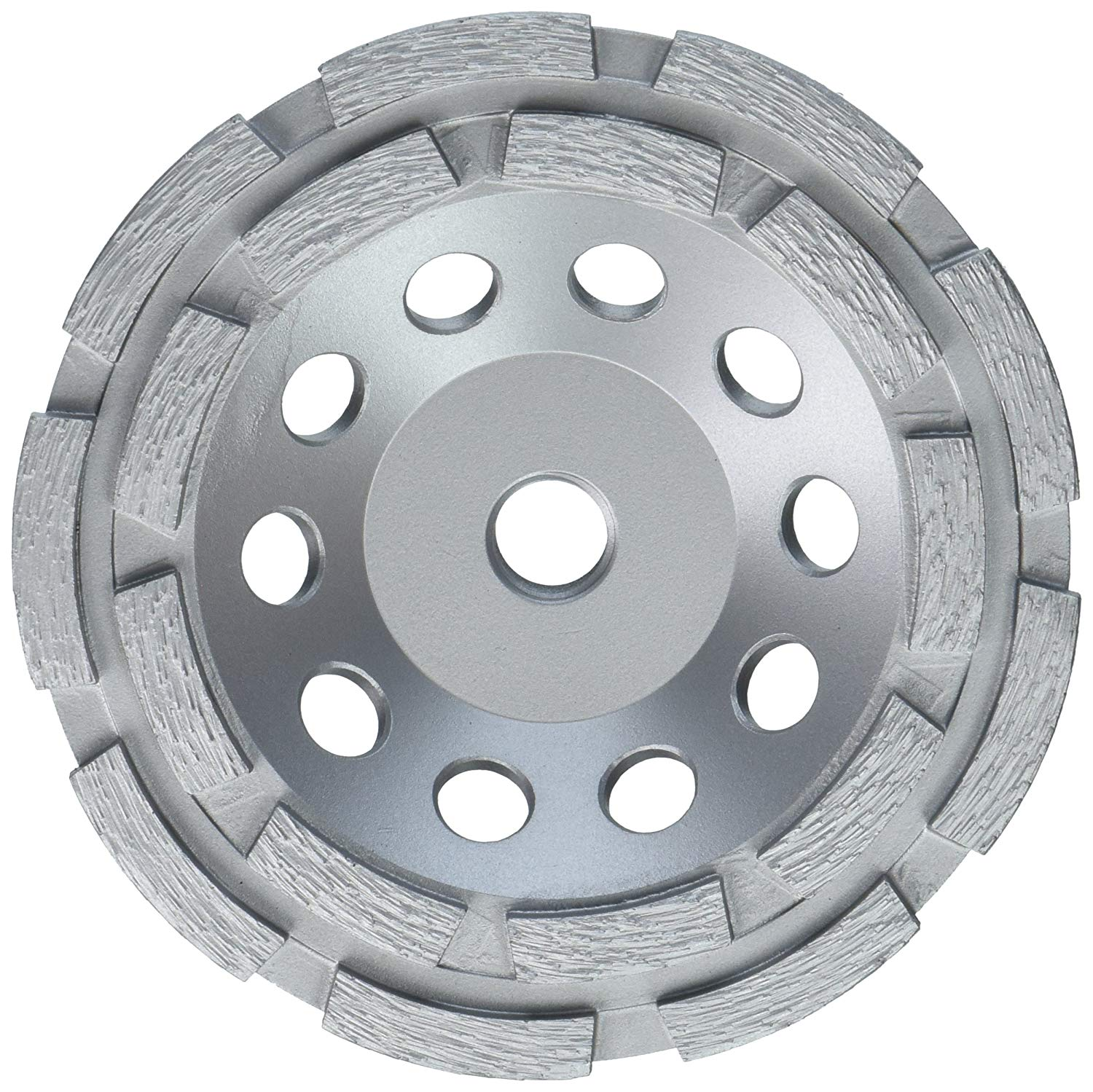 """Lackmond SPPGC5DN SPP Series Double Row Cups - 5"""" Wet/Dry Concrete Stone Coating Removal Tool with Double Row Configuration & 5/8""""-11 Thread Arbor"""