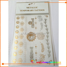 Circle chains gold silver tattoo stickers