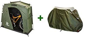 The YardStash III and YardStash Bicycle Cover XL Bundle: Complete Outdoor Bicycle Storage Solution. Order the Outdoor Storage Bundle and Save!