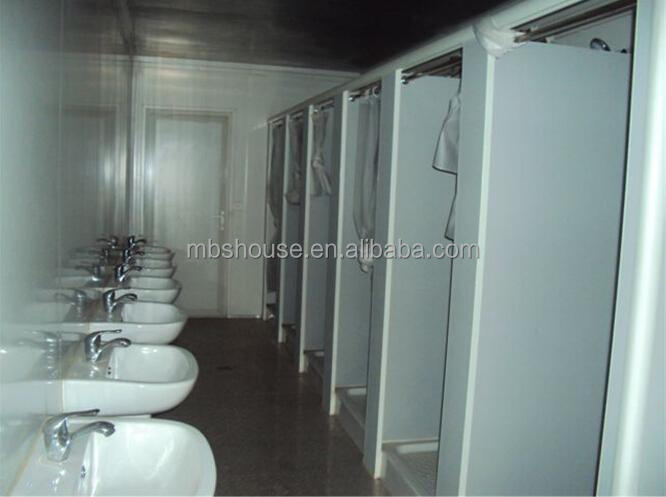 Mobile container toilet with shower room buy shipping for Shipping container public bathroom